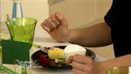 Voir la recette : Canneloni de mangue au chocolat blanc et creme de noix de coco avec copeaux de chocolat