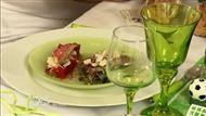 Voir la recette : Salade de filets de rouget tièdes, concassé de poivrons grillés