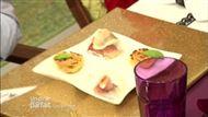Voir la recette: Saltimbocca de lotte et son bouillon de safran