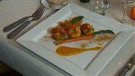 Voir la recette : Scampis à l'orange sur lit d'asperges vertes