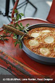 Voir la recette: Cake salé, courgette, poivron, fromage de chèvre et chorizo