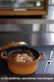 Voir la recette : Terrine de pommes de terre et céleri aux lardons en cocotte