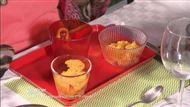 Voir la recette : Salades de fruits de saison, panna cotta, sorbet mange, tuiles aux agrumes