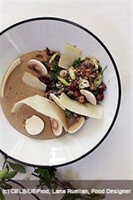 Voir la recette: Soupe de châtaigne, champignons et haricot coco