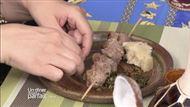 Voir la recette: Kamudélé  grillées piquées et racines tropicales