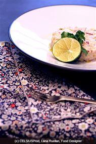Voir la recette: Tartare d'aiglefin au lait de coco