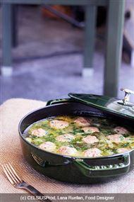 Voir la recette: Boulettes de porc maison à la sauce céleri