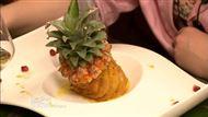 Voir la recette : Ananas rôti et sa crème d'amande