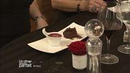 Voir la recette : Fondant de chocolat au lait cœur de caramel beurre salé et sorbet fruits rouges
