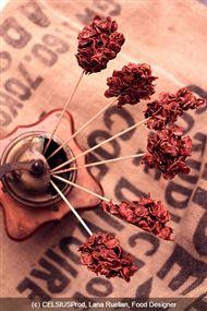 Voir la recette : Sucette rose des sables