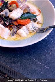 Voir la recette : Blanquette de roussette