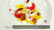 Voir la recette: Salade d'agrumes, crumble et crème légère